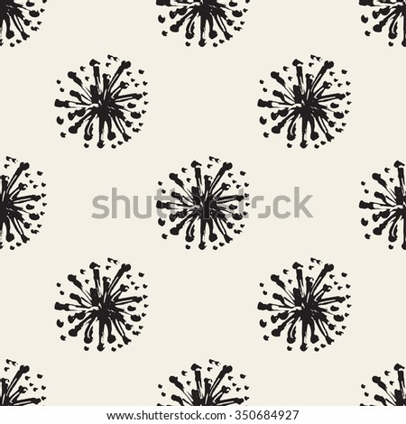 Abstract seamless pattern with brush strokes, design element. Floral texture. Can be used for invitations, greeting cards, scrapbooking, print, gift wrap, manufacturing. Grunge background - stock photo