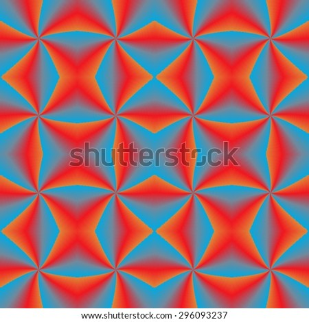 Abstract seamless pattern with motif of psychedelic illusion, moving shapes - stock photo