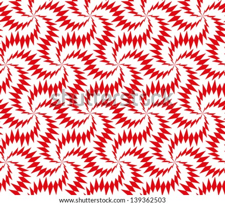Abstract seamless pattern with stylized thorny six stars - stock photo