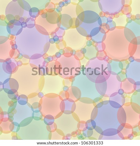 Abstract seamless texture in pastel tones - colored circles. - stock photo