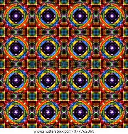 Abstract seamless twirl pattern background - stock photo