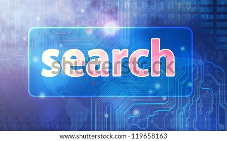 abstract search Text. - stock photo