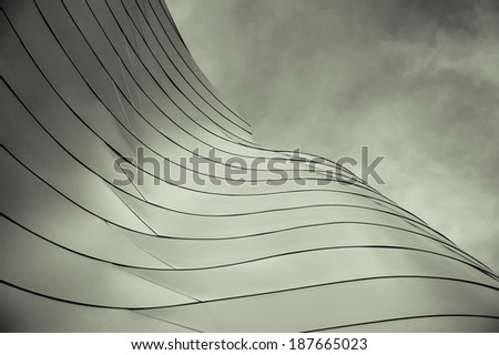 Abstract section of a modern building. - stock photo