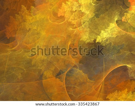Abstract shapes made of fractal textures. - stock photo
