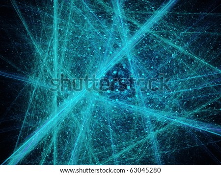 Abstract shattered triangles on a dark background - stock photo