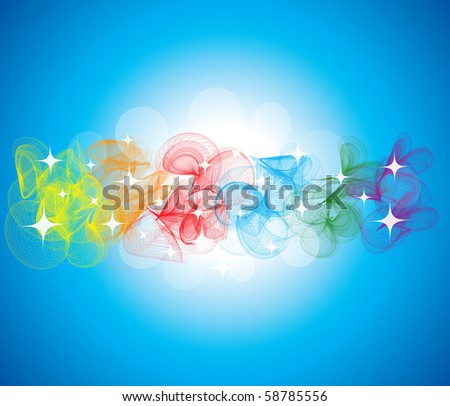 abstract shiny background with colorful smoke - stock photo