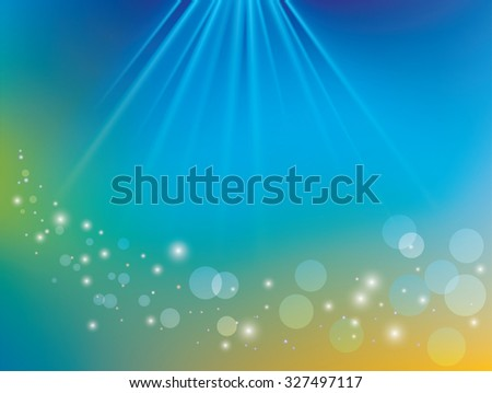 abstract shiny background with rays and bokeh - stock photo