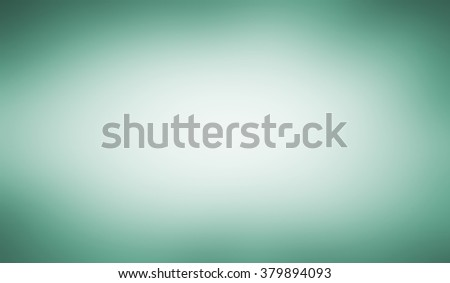 abstract shiny blue green white background with smooth blurred texture with teal blue tinted border, blurry background, pastel blue green and white color center - stock photo
