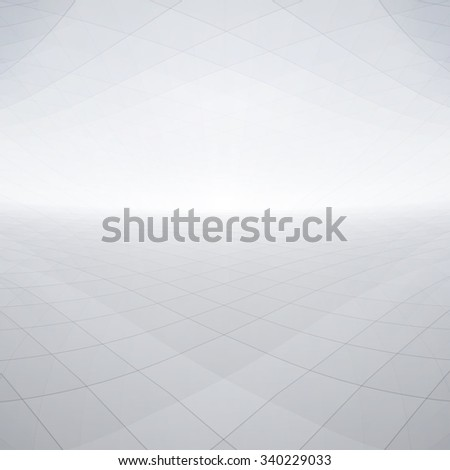 Abstract shiny perspective background with white and grey tones - stock photo