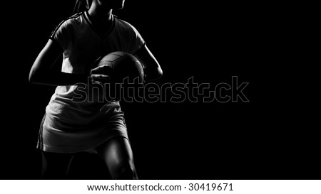 abstract shoot of sporty asian girl - stock photo