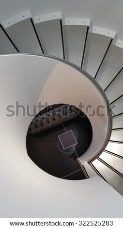 abstract shot of stairs in a store - stock photo
