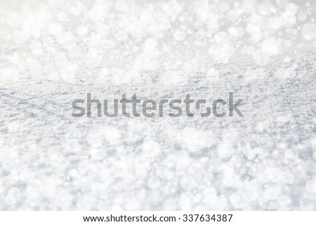 Abstract silver background or glitter blue background. Christmas background with white snowflakes - stock photo