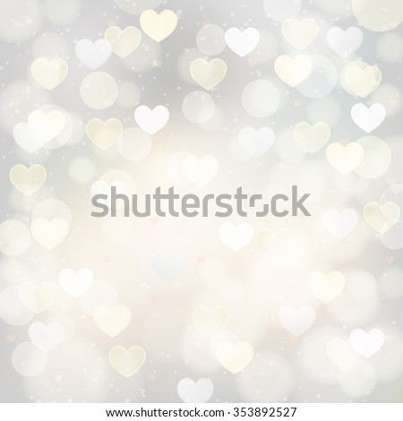 abstract silver background with transparent hearts. JPG version - stock photo