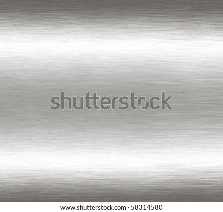 Abstract silver chrome grunge scratched brushed metal background texture. - stock photo