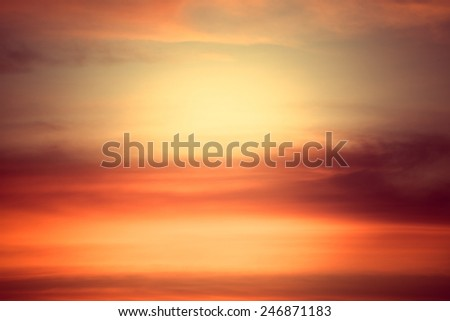 abstract sky cloud color sunset background - stock photo
