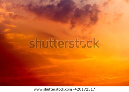 Abstract sky texture and clouds background - stock photo