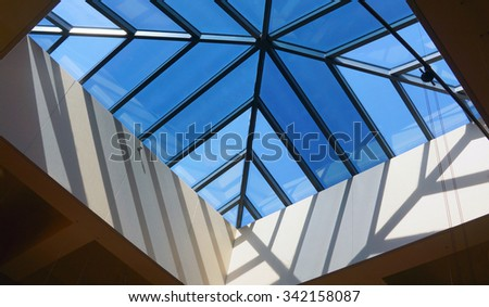 Abstract skylight - stock photo