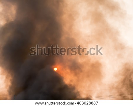 Abstract Smoke From Large Wild Fire - stock photo
