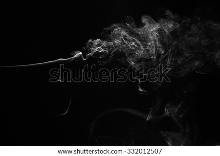 Abstract smoke moves on a black background. Design element. Abstract texture. - stock photo