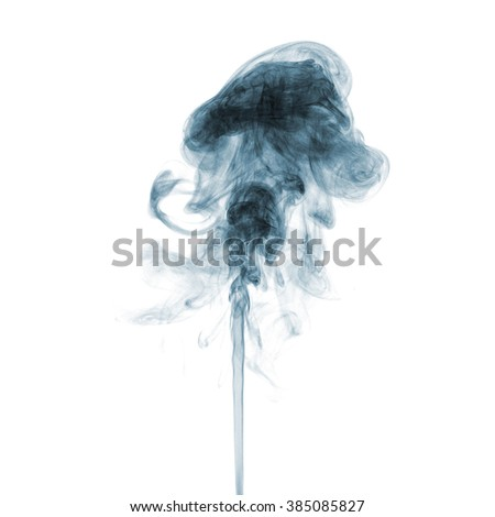 Abstract smoke moves on  white background - stock photo