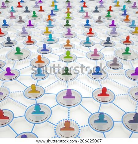 Abstract social media background - stock photo
