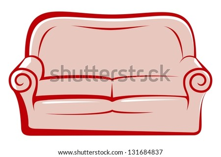 abstract sofa - stock photo