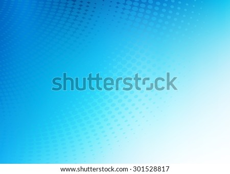 Abstract soft blue dot swirl medical or business background illustration with plenty of copy space.  - stock photo