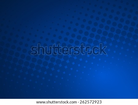 Abstract soft dark blue dot swirl medical or business background illustration, perfect for all communication arts - stock photo