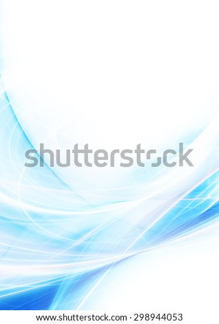 Abstract soft light wave. Artistic blue color smoke background with lighting effect. Modern futuristic color pattern for flyer cover, poster. Digital fractal for creative graphic design. - stock photo