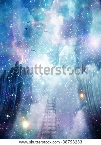 Abstract Space - stock photo