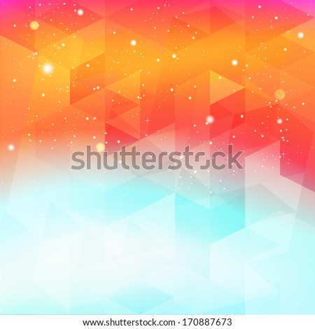Abstract Space Background - stock photo