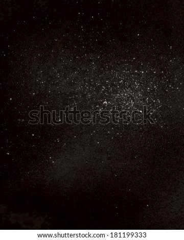 abstract space background, large cluster of stars, nebula. - stock photo
