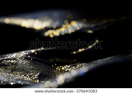Abstract sparkling multicolor light defocused bokeh background - stock photo