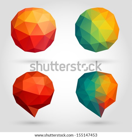 Abstract speech bubbles collection - raster version - stock photo