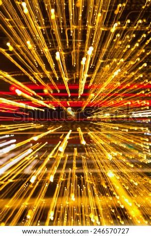 Abstract speed technology background, fiber optics, light burst,  - stock photo