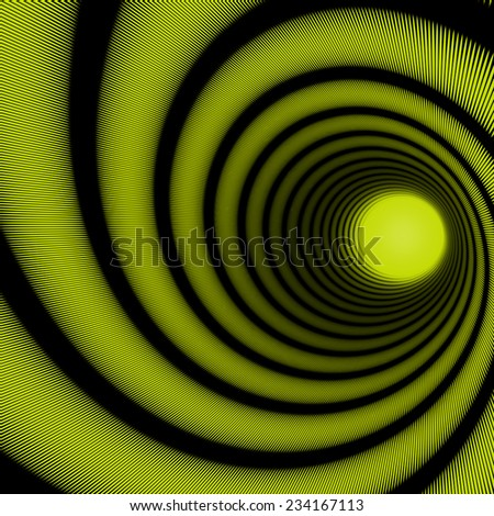 abstract spiral tunnel for a striped background - stock photo