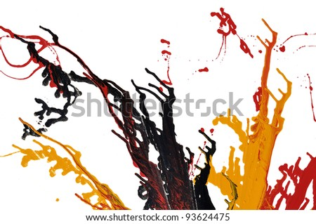 Abstract splash oil colors - stock photo