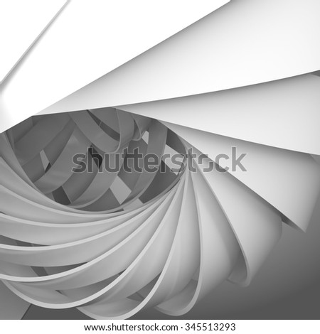Abstract square digital background with 3d spiral structure - stock photo