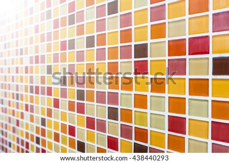 Abstract square mosaic background, Selective focus - stock photo