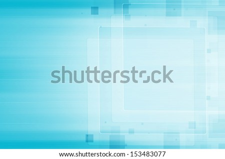 abstract square on blue background. - stock photo