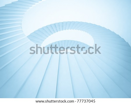Abstract Staircase Background - stock photo