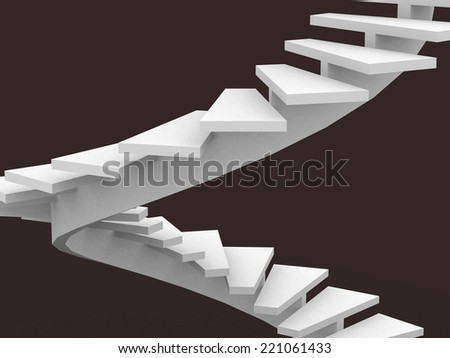 Abstract Staircase Background - 3d render illustration - stock photo