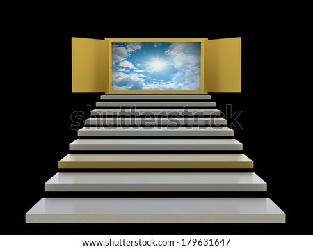 Abstract stairs background - stock photo