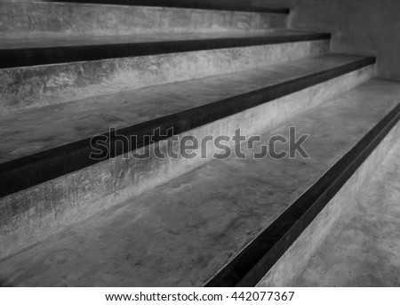Abstract stairs in black and white - stock photo