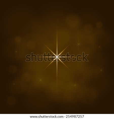 abstract star magic light sky bubble blur gold background - stock photo