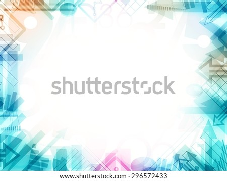 abstract statistics frame border illustration - stock photo