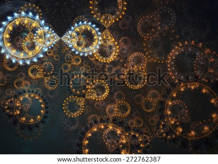 Abstract steampunk cogwheel background - stock photo