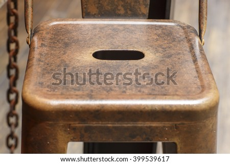 Abstract steel chair vintage image  retro style - stock photo
