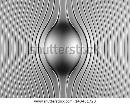 Abstract steel luxury background 3d illustration - stock photo