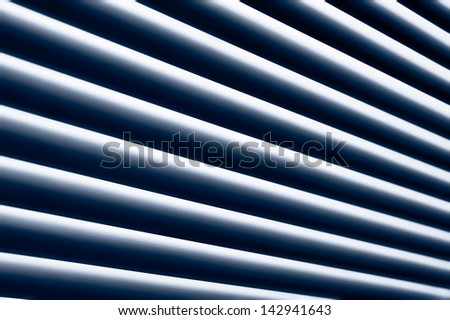 Abstract striped background made from window blinds - stock photo
